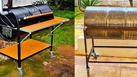 How To Make BBQ Pit from Barrel | DIY Joy Projects and Crafts Ideas