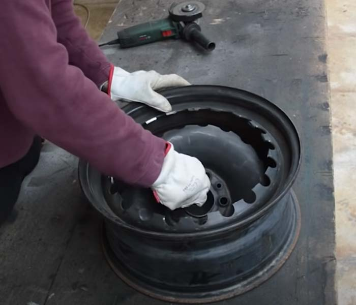 How to Make A Stove From Old Tire Rims - Cheap DIY Ideas for The Backyard - Cool Crafts for Men