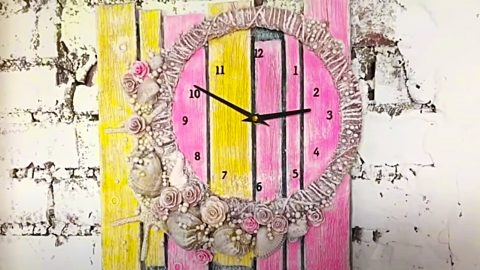 How To Make A Cardboard Clock | DIY Joy Projects and Crafts Ideas