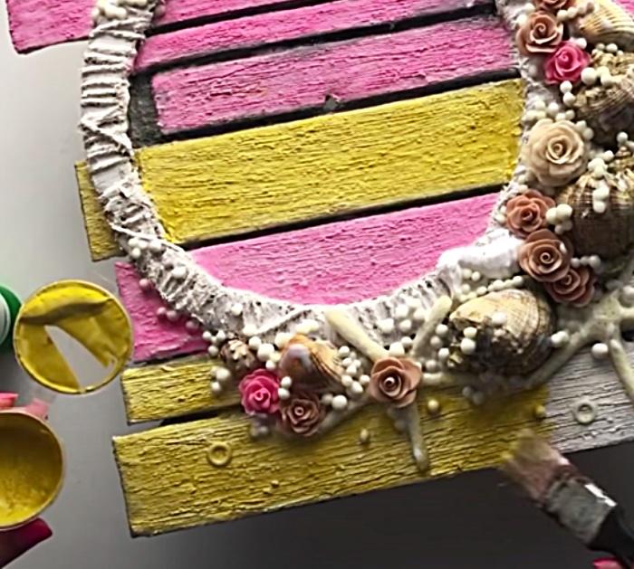Decoupage On Cardboard To Make A Wall Art Clock