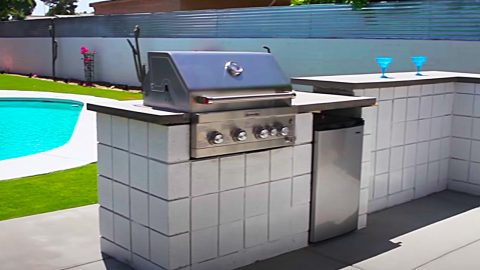 How To Build A Cinder Block BBQ Pit Cooking Area   DIY Joy Projects and Crafts Ideas