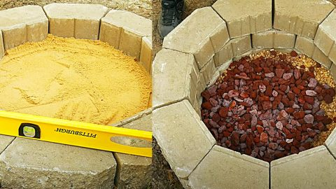 How To Build A Cinder Block Fire Pit For $50 | DIY Joy Projects and Crafts Ideas