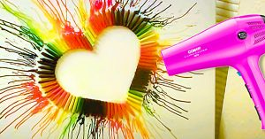 How To Make Crayon Heart Art