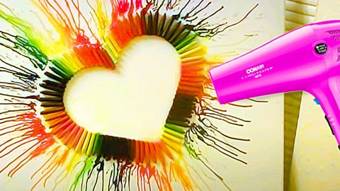 How To Make Crayon Heart Art   DIY Joy Projects and Crafts Ideas