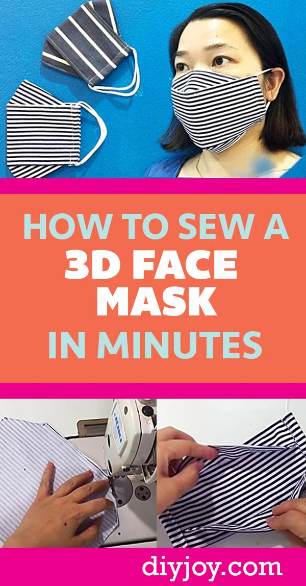 DIY Face Mask - How to Make A Face Mask That Does Not Touch The Face - Quick DIY Face Mask Patterns - Free Patterns for Making Fabric Masks - Sewing Tutorials and Project Videos -Covid Tips