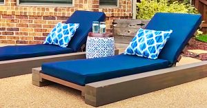 $80 DIY Outdoor Lounge Chair With Free Plans Included
