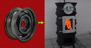 Turn Old Tire Rims Into A DIY Stove