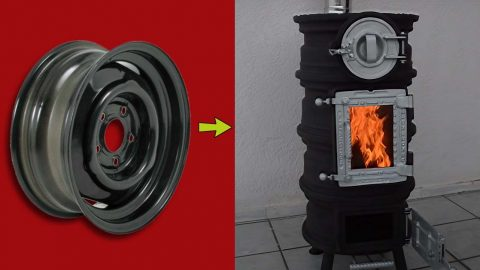 Turn Old Tire Rims Into A DIY Stove   DIY Joy Projects and Crafts Ideas