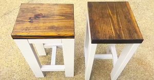 How To Build 2 Farmhouse End Tables For $20