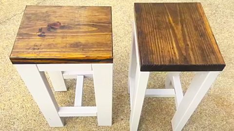 How To Build 2 Farmhouse End Tables For $20 | DIY Joy Projects and Crafts Ideas
