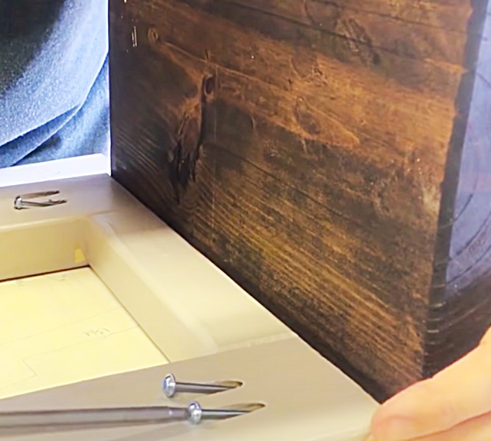 Put Screws In At An Angle On DIY Farmhouse End Tables