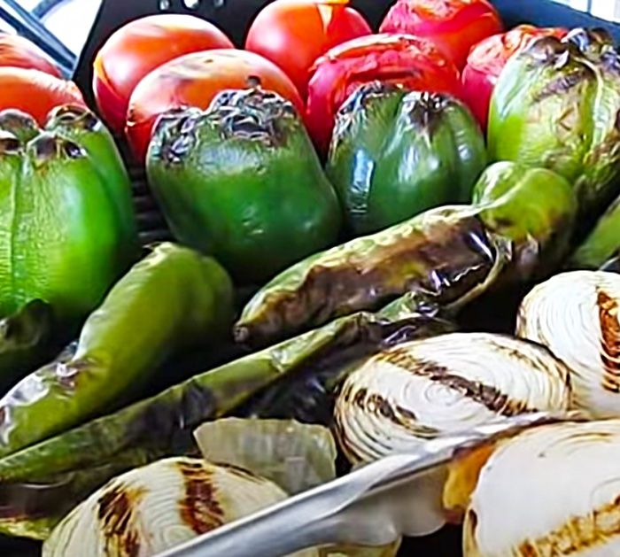 Grill Vegetables To Make Fire Roasted Hot Sauce