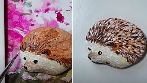 How To Paint A Hedgehog Rock   DIY Joy Projects and Crafts Ideas