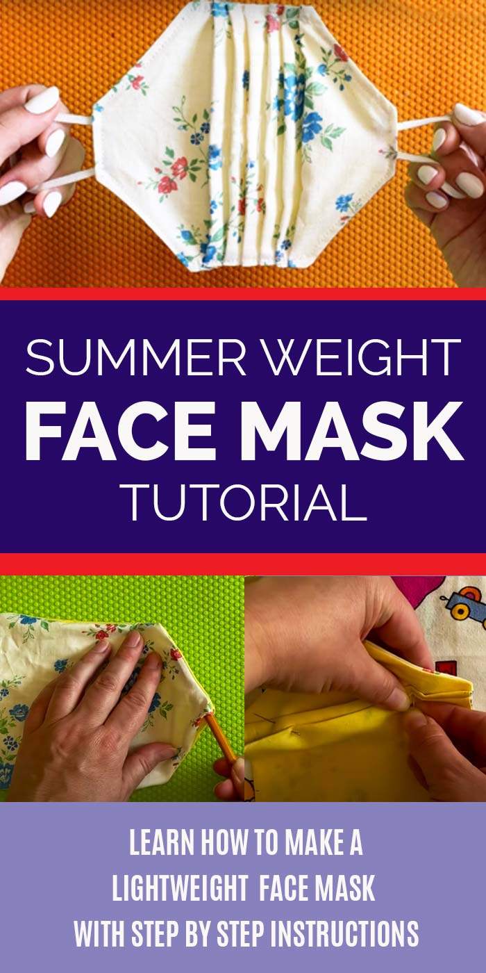 How to Make A Face Mask - Lightweight Face Mask DIY - Step by Step Sewing Tutorials and Instructions YouTube - DIY Summer Face Mask | DIY Crafts - How to Make A Lightweight Face Mask With Step by Step Sewing Tutorial - Easy DIY Face Masks
