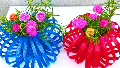 How To Make Lantern Flower Pots From Plastic Bottles | DIY Joy Projects and Crafts Ideas