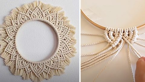 How To Make Macrame Mandala Wall Hanging | DIY Joy Projects and Crafts Ideas