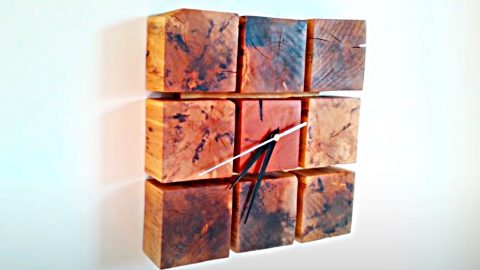 How To Make A Clock From Pallet Wood Blocks | DIY Joy Projects and Crafts Ideas