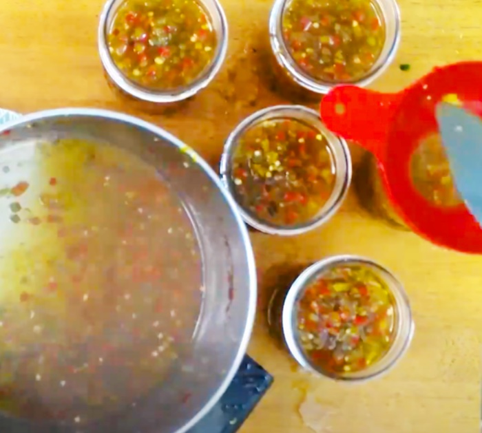 Sweet Hot Pepper Jelly With Bell Peppers And Jalapenos