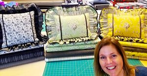 Double Ruffled Pillow Sham With Donna Jordan
