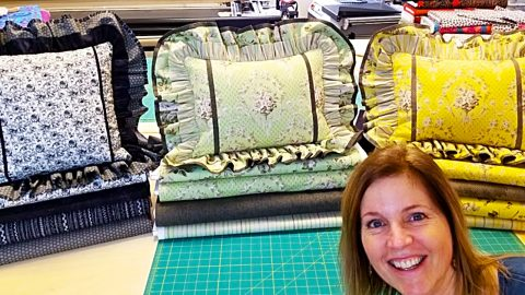 Double Ruffled Pillow Sham With Donna Jordan | DIY Joy Projects and Crafts Ideas