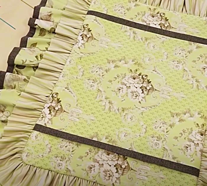 Pillow Sham With Ruffles By Donna Jordan