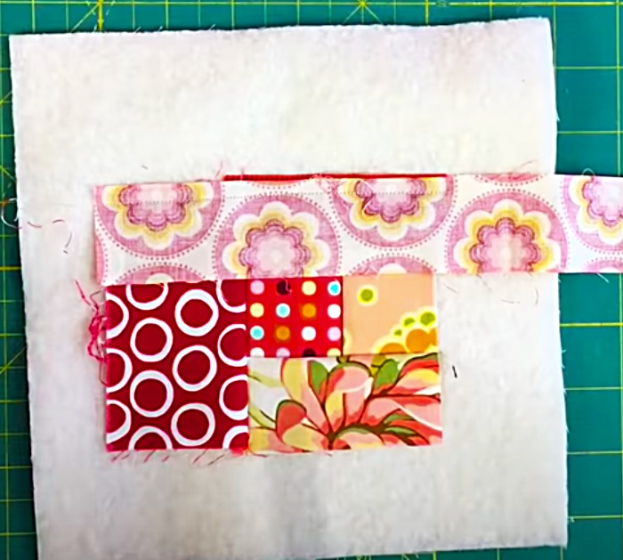 How To Make A Scrappy Quilt-As-You-Go Quilt Block