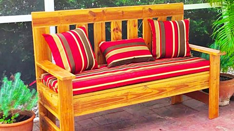 How To Make A Wooden Bench From Old Fence Or Deck Wood | DIY Joy Projects and Crafts Ideas