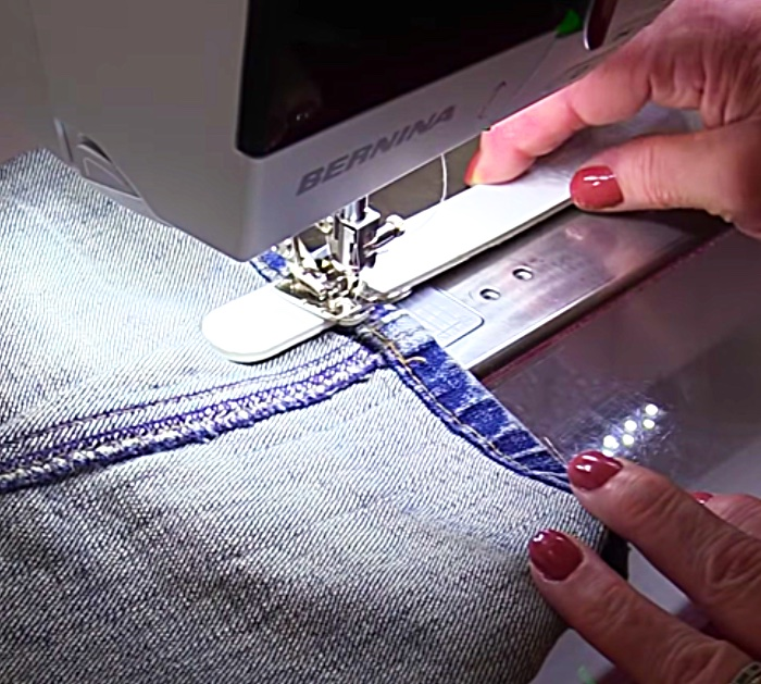 Learn A Few Different Ways To sew Over A Large Denim Hem Using A Nail File