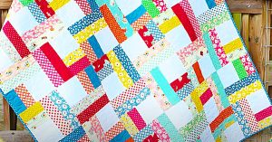 How To Sew A Jelly Roll Twist Quilt With Free Pattern