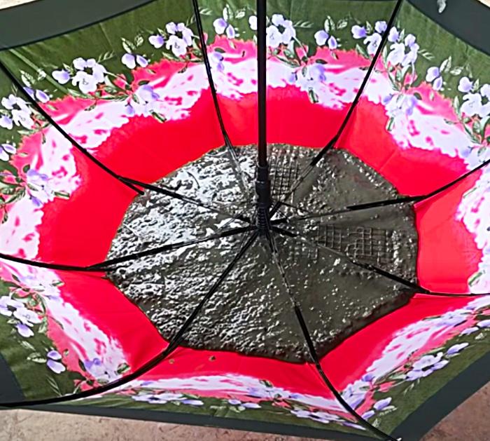 Pour Cement Into An Umbrella To Make A Fountain