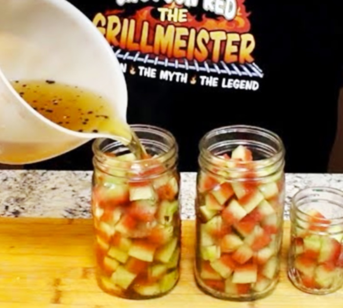Make a Homemade Bron For Watermelon Rind Pickles That Don't Require A Canning Bath