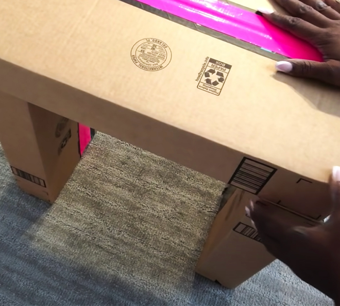 DIY Glam Side Tables With Amazon Boxes | DIY Furniture