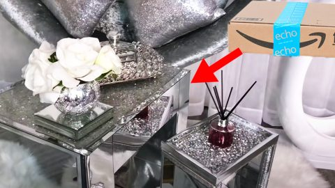 DIY Glam Side Tables With Amazon Boxes | DIY Joy Projects and Crafts Ideas