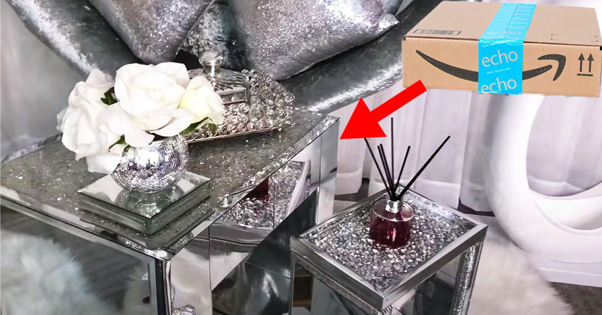 Diy Glam Side Tables With Amazon Boxes