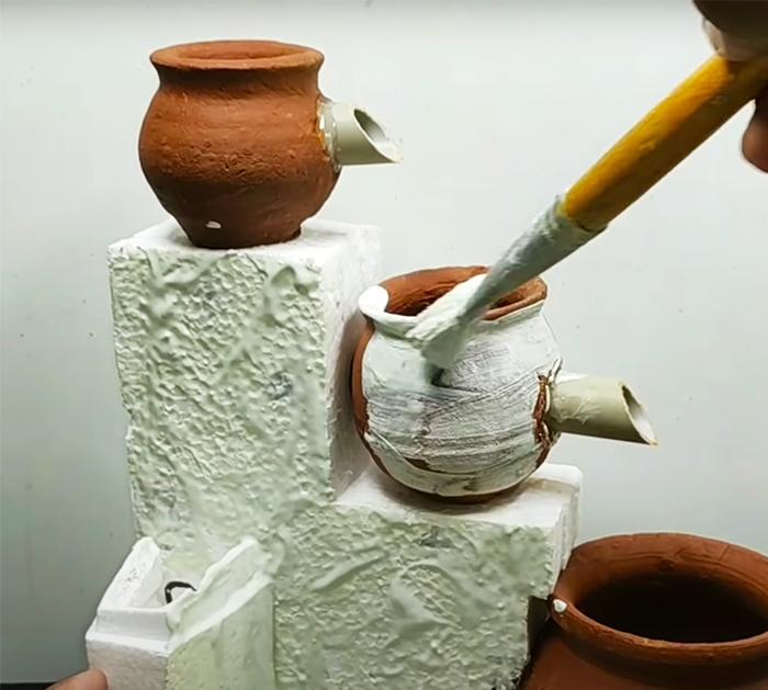 DIY Indoor Terracotta Water Fountain | Outdoor Crafts