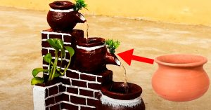 DIY Indoor Terracotta Water Fountain