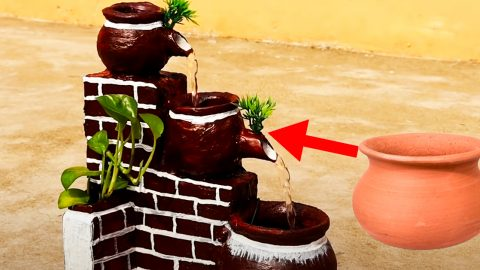 DIY Indoor Terracotta Water Fountain | DIY Joy Projects and Crafts Ideas