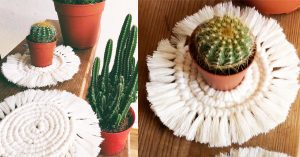 DIY Macrame Coasters