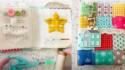 How To Make A Needle Book With Pockets | DIY Joy Projects and Crafts Ideas