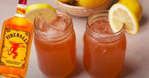 Mason Jar Fireball Lemonade Tastes Like A Jolly Rancher