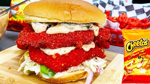 Flamin' Hot Cheetos Chicken Sandwich Recipe | DIY Joy Projects and Crafts Ideas