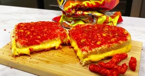 Flaming Hot Cheetos Grilled Cheese Sandwich Recipe