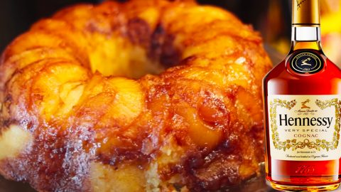 Hennessy Pineapple Upside Down Pound Cake Recipe | DIY Joy Projects and Crafts Ideas