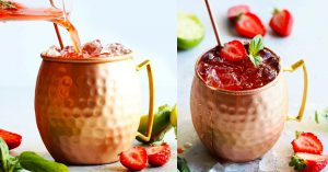 How To Make Strawberry Basil Moscow Mules
