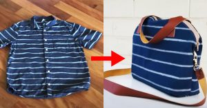 How To Recycle Shirts Into A Crossbody Bag