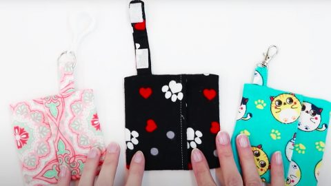 How To Sew A Face Mask Keychain Case | DIY Joy Projects and Crafts Ideas