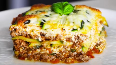 Low-Carb Zucchini Lasagna Recipe | DIY Joy Projects and Crafts Ideas