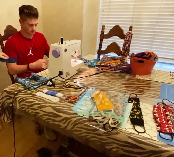 Meet This Eagle Scout Who Sewed Hundreds Of Face Masks During The Pandemic