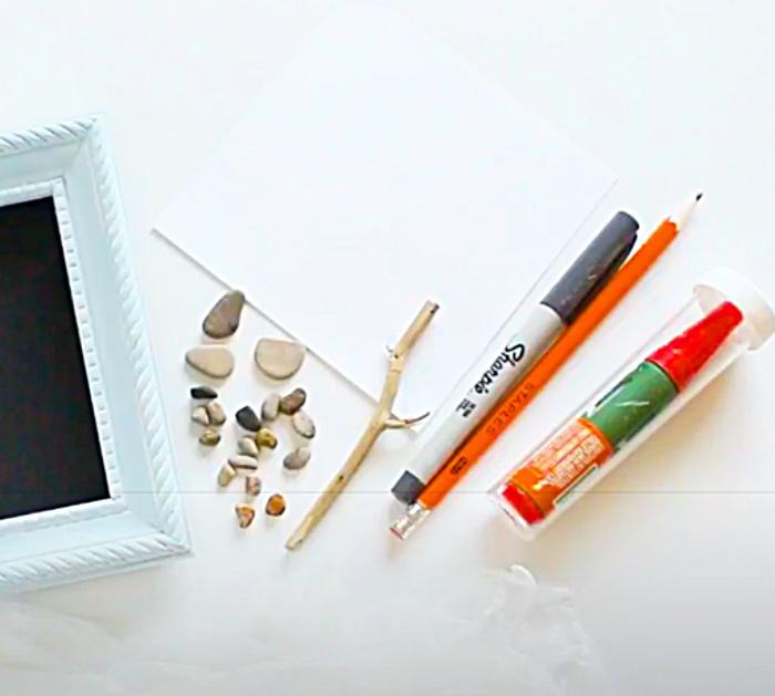 Get Supplies Together To Make Bird Pebble Art