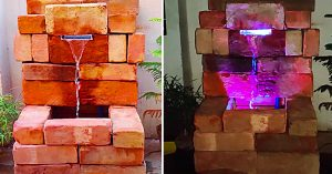 How To Make A Brick Waterfall